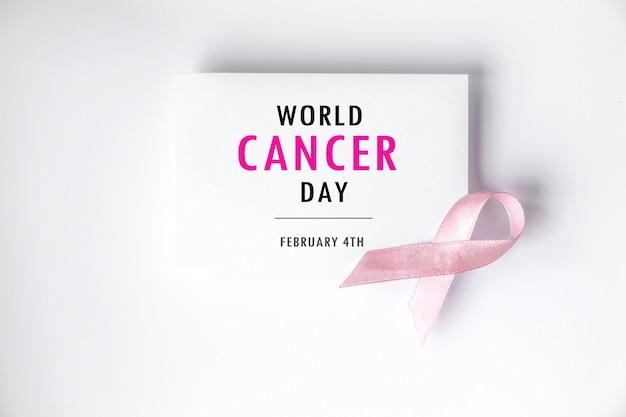 Concetto di giornata mondiale del cancro