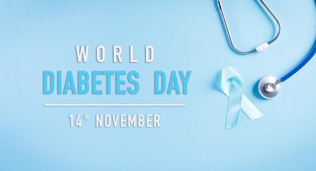 Concetto di consapevolezza della giornata mondiale del diabete