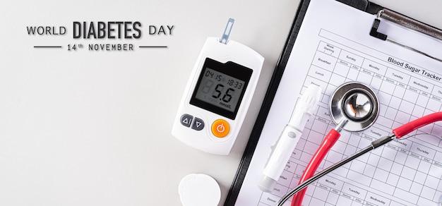 Concetto di giornata mondiale del diabete.