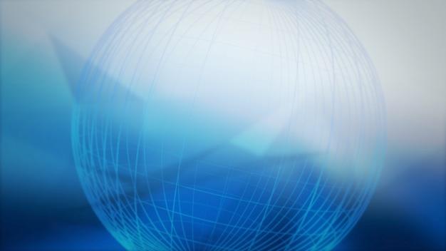 Mappa del mondo e linee, sfondo astratto. elegante stile dinamico per affari, illustrazione 3d