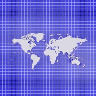 Rendering della mappa del mondo