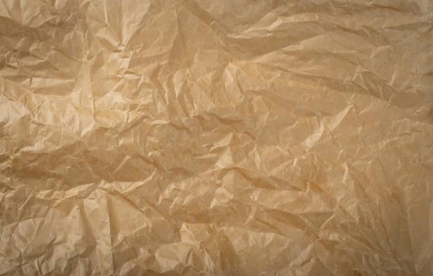 Dettagli di trama della carta da imballaggio spiegazzata