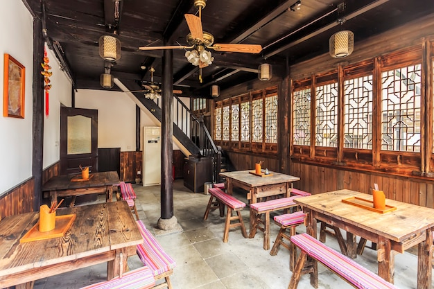 Wuzhen piccolo ristorante nella provincia di zhejiang