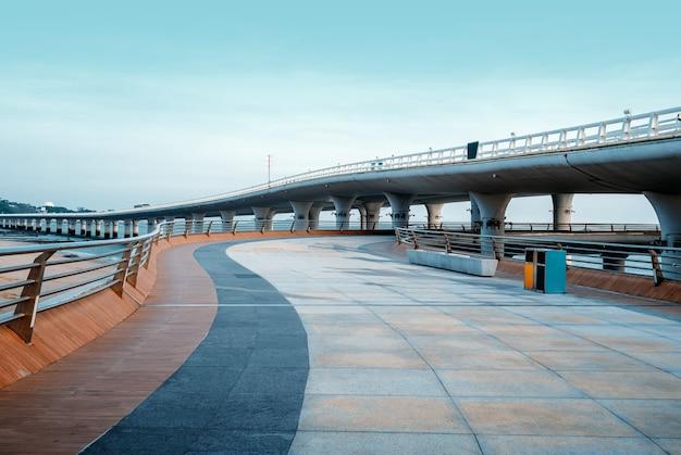 Paesaggio del ponte di xiamen yanwu intorno alla strada di huandao