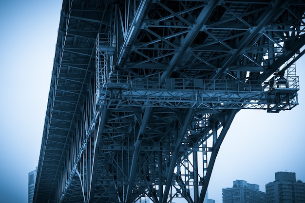 Ponte sul fiume yangtze e scenario della città di chongqing