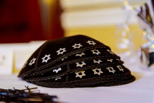 Yarmulke - copricapo ebraico tradizionale, israele.