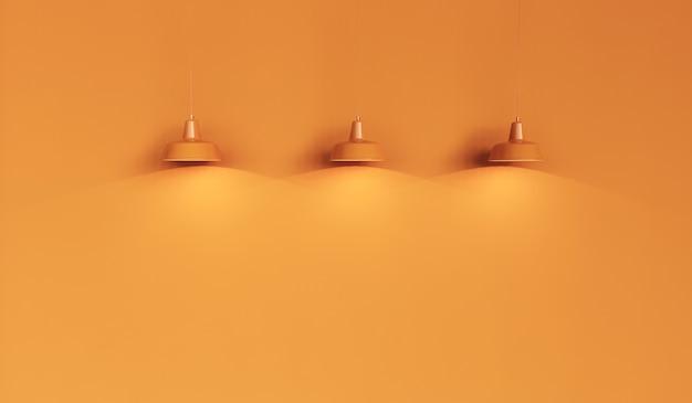 Sfondo giallo con tre luci gialle