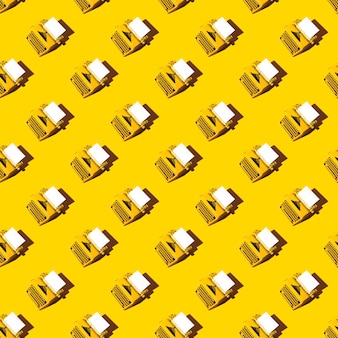 Modello giallo brillante della macchina da scrivere