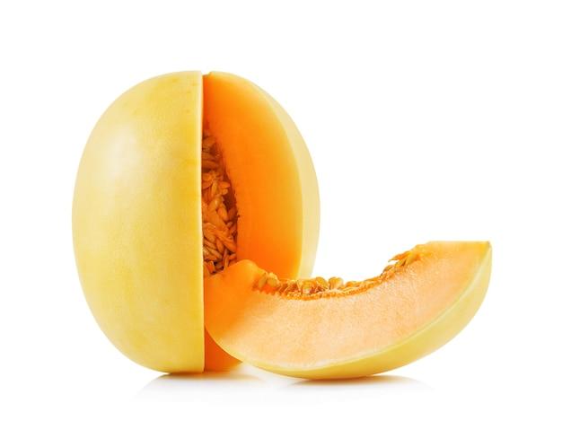 Cantalupo giallo isolato.