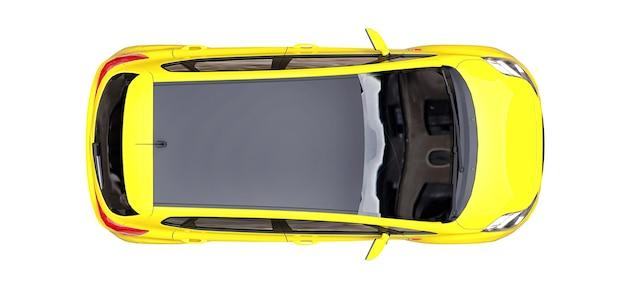 City car gialla con superficie vuota per il tuo design creativo