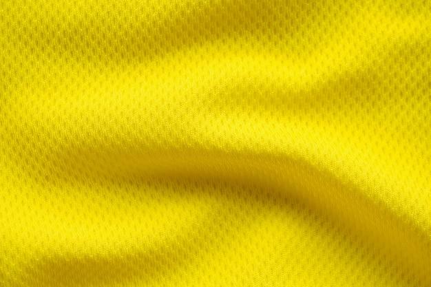 Trama di maglia da calcio di colore giallo