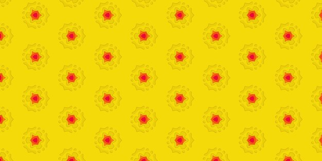 Sfondo di carta gialla ritagliata del foro sul foglio