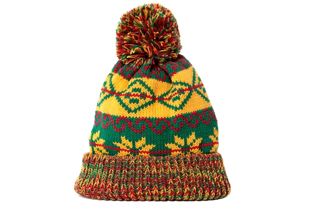 Cappello da sci bobble invernale modello verde giallo
