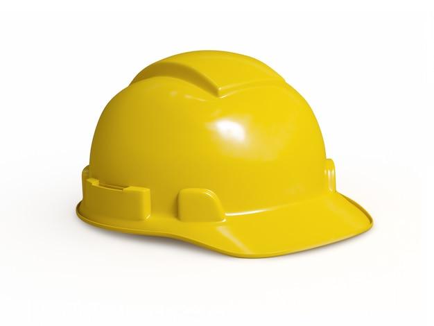 Casco giallo del muratore isolato