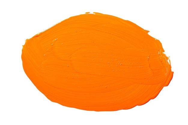 Macchia dell'acquerello dell'acquerello astratto giallo arancione. pennellate di acquerello acrilico giallo colorato.