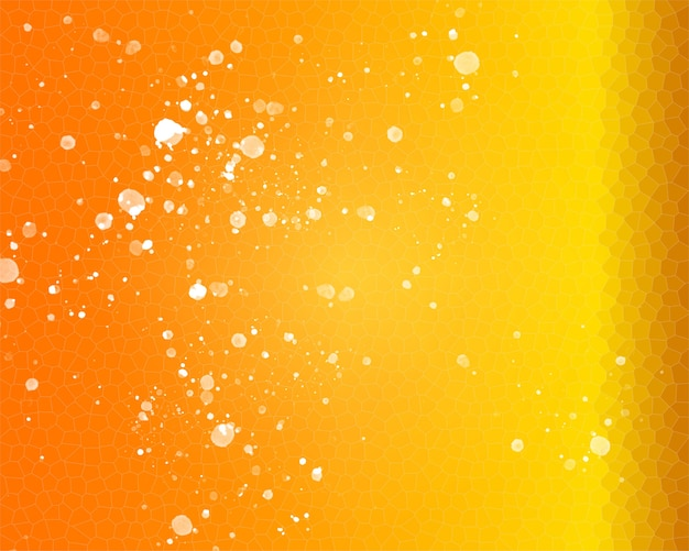 Fondo arancio giallo con il primo piano dell'illustrazione dell'ape a nido d'ape
