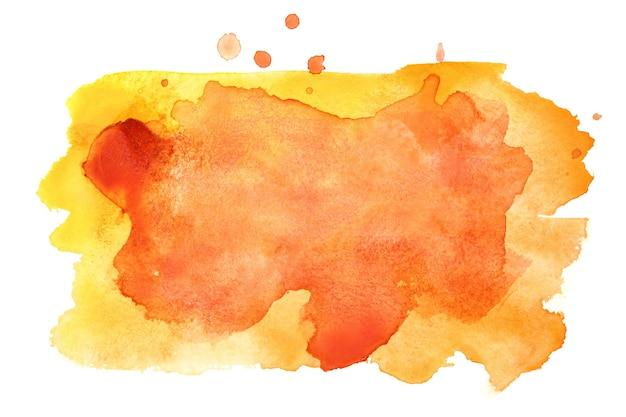 Giallo - macchie di acquerello arancioni. elemento vivido per il tuo design. cornice colorata per il testo