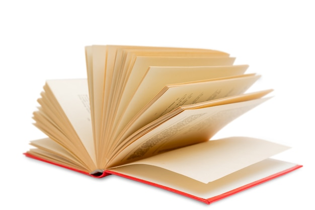 Pagine gialle di un vecchio libro. raro libro vintage. libro di carta usato.