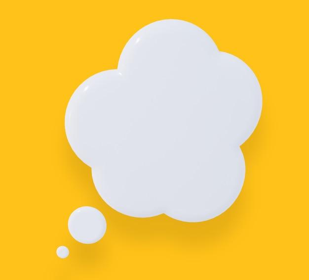 Fumetto giallo su sfondo giallo. rendering 3d.