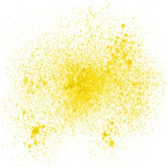Vernice spray giallo su sfondo bianco