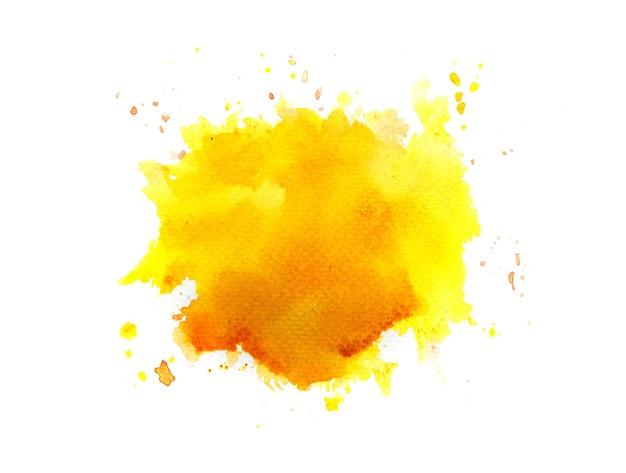 Sfondo acquerello macchia gialla.
