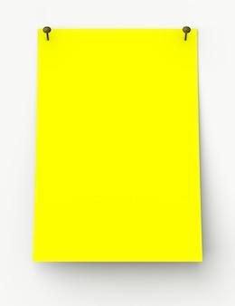Etichetta adesiva gialla isolata su sfondo bianco
