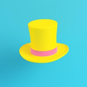 Cappelli a cilindro gialli su sfondo blu brillante