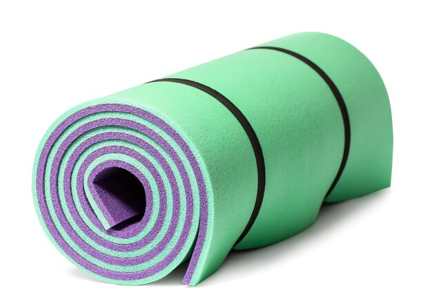 Stuoia di yoga isolata isolata