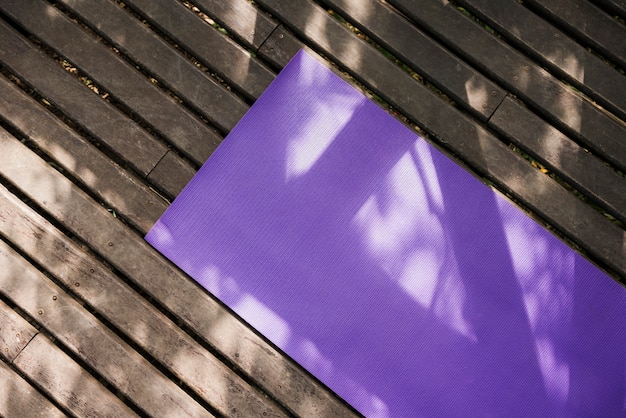 Tappetino yoga all'aperto