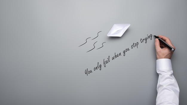 Fallisci solo quando smetti di provare