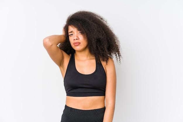 La giovane donna sportiva afroamericana è scioccata, ha ricordato un incontro importante.