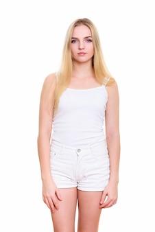 Giovane bella donna adolescente in piedi