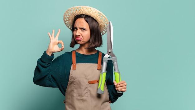 Giovane pre donna. concetto di contadino