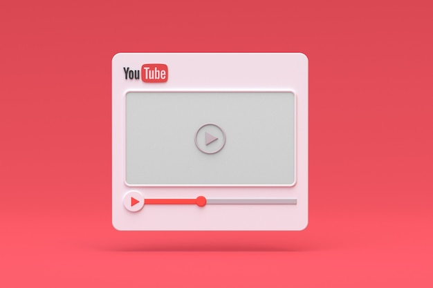 Youtube video player 3d design o interfaccia video media player