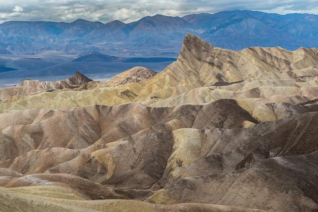 Zabriskie point nel parco nazionale della valle della morte