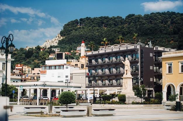 Zante, la piazza principale della città vecchia di zante, grecia.isola di zante