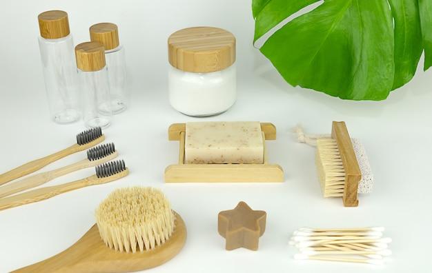 Zero rifiuti prodotti per l'igiene personale spazzolino da denti lozione per il corpo spazzola per il corpo sapone set di bottiglie da viaggio
