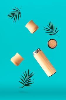 Tè a perdere zero in borraccia da viaggio isolata in metallo e bambù