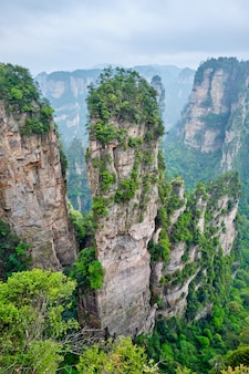 Montagne di zhangjiajie, cina