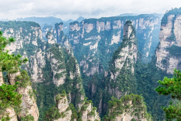 Zhangjiajie national park unesco wulingyuan changsha cina