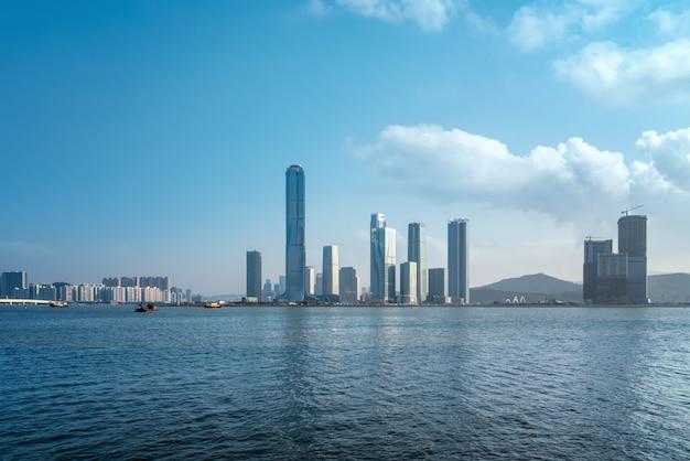 Scenario della costa di zhuhai e isola finanziaria di hengqin