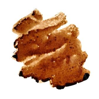 Macchia di caffè a zig-zag isolata sullo sfondo - spazio per il tuo testo