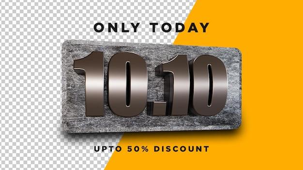 10.10 vendita 3d design psd