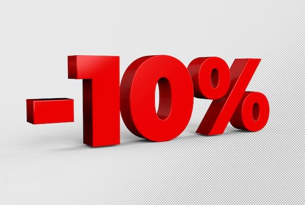 Testo 3d di sconto del 10%