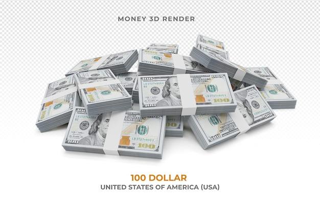 Pacchetto di soldi da 100 dollari isolato