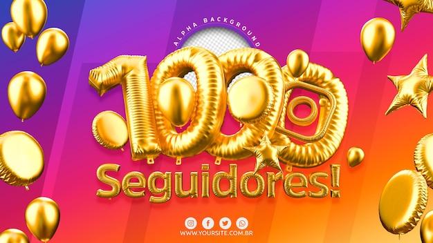1000 follower su instagram