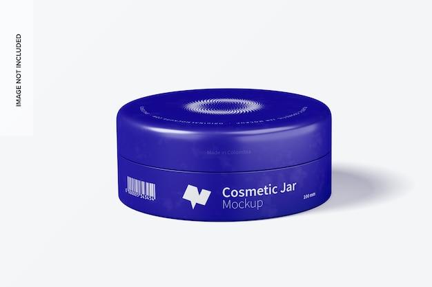 Mockup di barattolo cosmetico in plastica da 100 mm