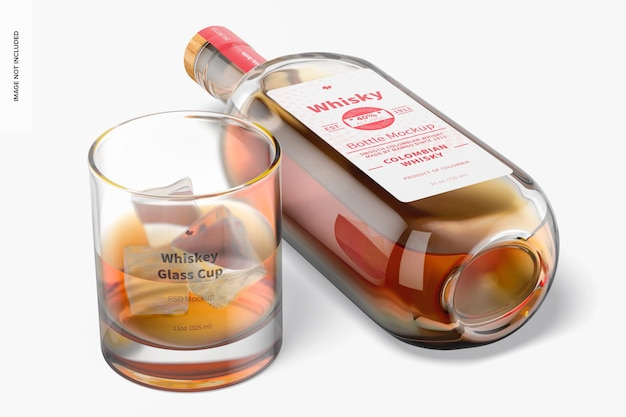 Mockup di bicchiere di whisky da 11 once