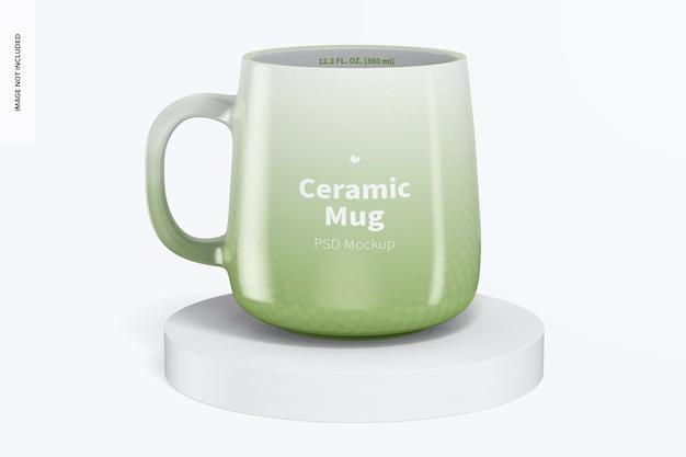 Mockup di tazza in ceramica da 12,2 once