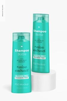 Mockup di bottiglie di shampoo da 12,5 once
